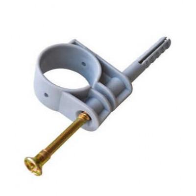Хомут для крепления труб быстрый монтаж 20 мм