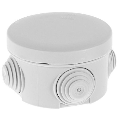 Коробка распределительная для наружной проводки (круглая)