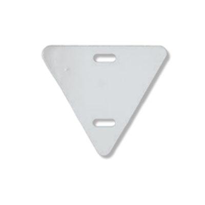 Пластиковая треугольная бирка для маркировки электрокабеля У136
