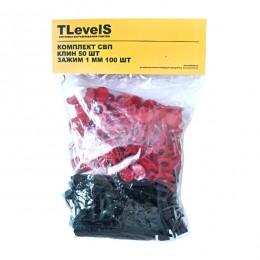 Система выравнивания плитки TLevelS 1 мм 100 шт